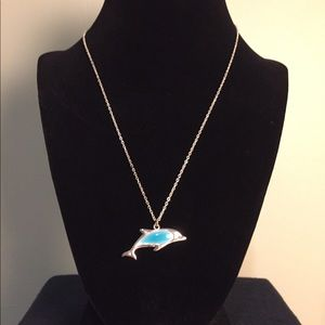 Dolphin necklace (sterling silver)